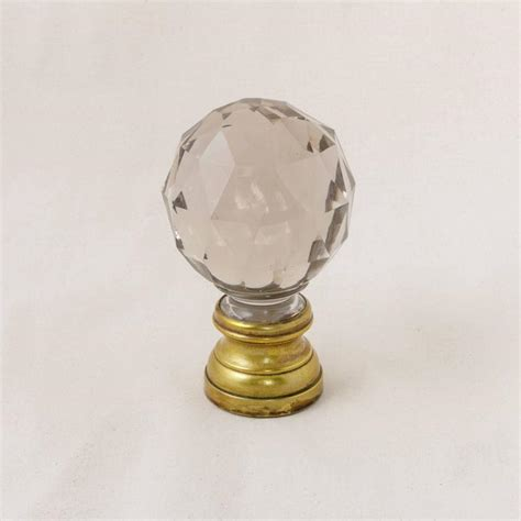 antique french baccarat faceted crystal staircase finial