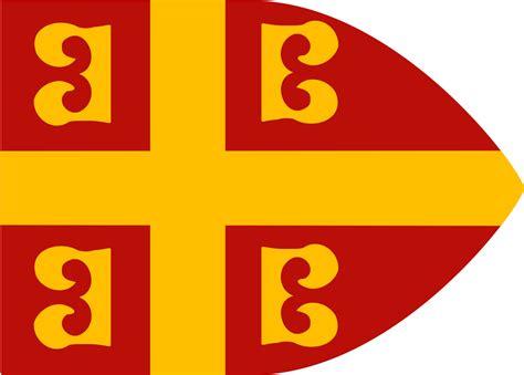 Byzantine Imperial Flag, 14th Century.svg