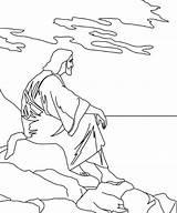 Jesus Coloring Cross Printable Carry Must sketch template