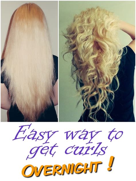 Easy Way To Get Curls Overnight  Goods From The Net