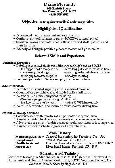 Chronological Resume For Receptionist by Pin Oleh Jobresume Di Resume Career Termplate Free