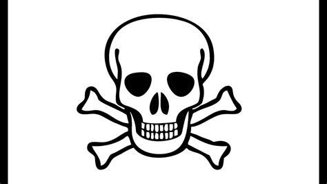 How Draw Pirate Skull Skeleton Youtube