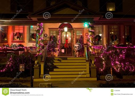 victorian porch  christmas stock image image