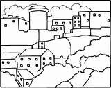 Neighborhood Coloring Pages Printable Others Template Map Sheet Coloringpages101 sketch template