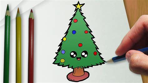 c 243 mo dibujar un 225 rbol de navidad del kawaii