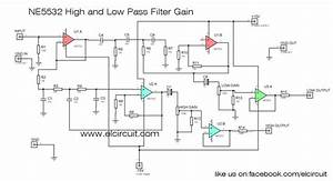 Ne5532 High And Low Pass Output Filter Circuit