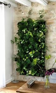 jardin vertical interieur et exterieur un vrai gain de With idee de deco jardin exterieur 0 un jardin vertical en palettes joli place