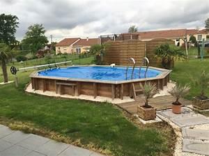 Piscine Semi Enterrée Coque : piscine bois semi enterree avis ~ Melissatoandfro.com Idées de Décoration