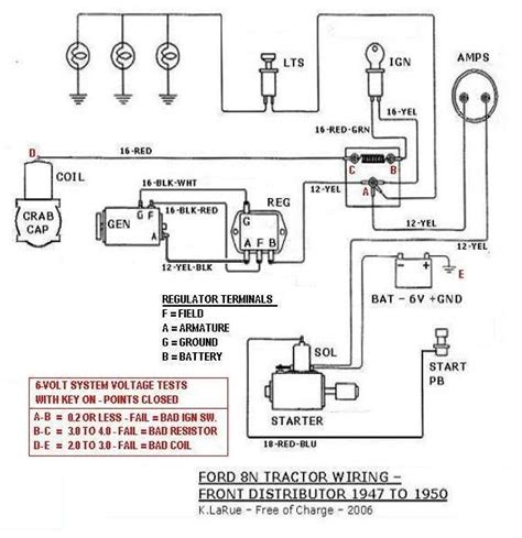 Ford 6 Volt Positive Ground Wiring Diagram by 6 Volt Alternator For 8n Wiring Complete Wiring Diagrams