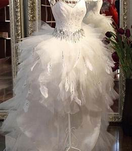 popular short feather wedding dress buy cheap short With robe mariée asymétrique