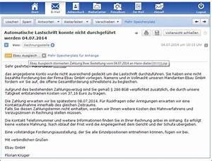 Rechnung Per Email Gültig : gef lschte mahnung einer ebay rechnungsstelle mit ~ Themetempest.com Abrechnung