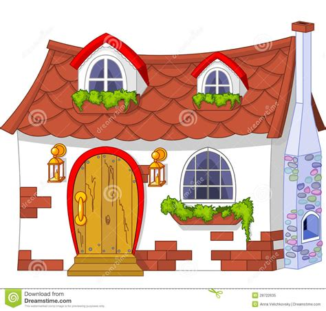 Cute Little House Stock Vector Illustration Of Art