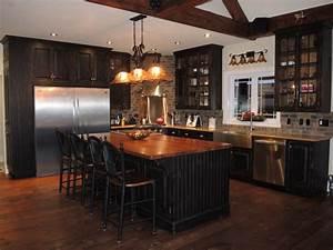 armoire du cuisine rustique noire atelier meuble rustique With meuble de cuisine rustique 9 table de cuisine bois gallery of table de cuisine ronde