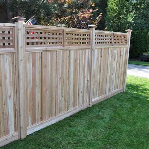 signature development  ft    ft  western red cedar checker lattice top fence panel kit
