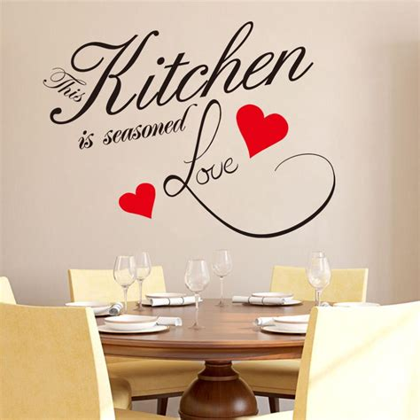 stickers phrase cuisine exciting wall decoration with lovely decals
