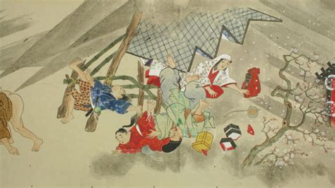 japanese fart scrolls farting edo period depict competitions ancient thomo modernism