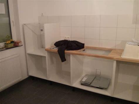 Ikea Küche Metall Arbeitsplatte by Aufbau Unserer Ikea K 252 Che Teil 2 Befestigungen