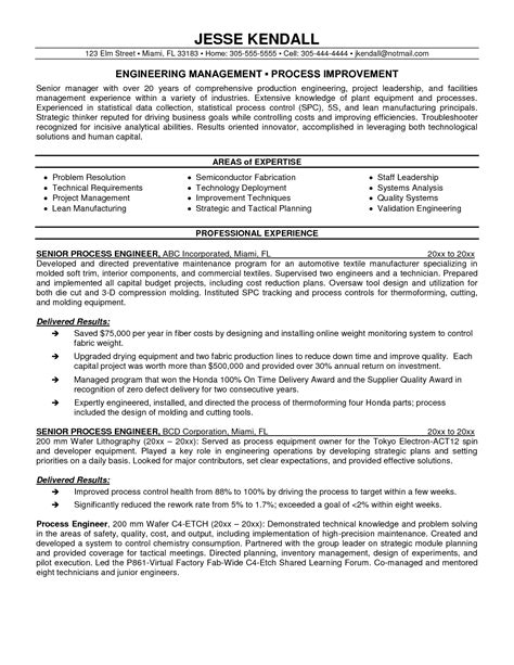 process safety engineer sle resume