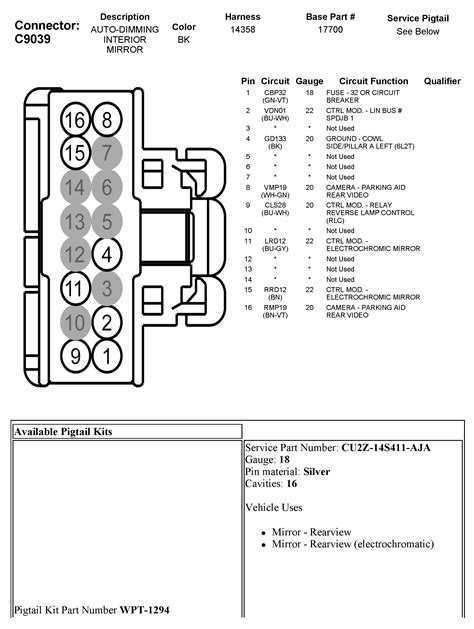Rearview Mirror Wiring Diagram 2005 Chevy Silverado by Wrg 3714 Mirror Wire Diagram