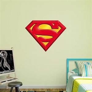superman logo wall decal shop fatheadr for superman decor With superman wall decal