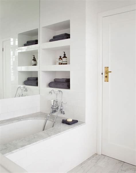 Small Wall Shelves Bathroom by Recessed Bathroom Shelves