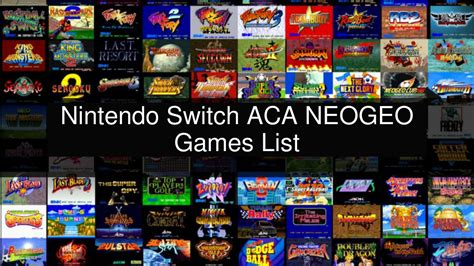 6294)want even more options ? Nintendo Switch ACA NEOGEO Games List - YouTube