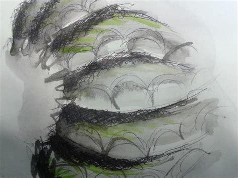 art portfolio drawing  shells