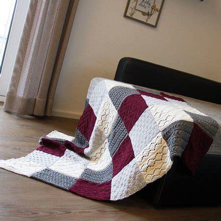 Patchworkdecke Stricken Muster by Patchwork Decke Stricken Warme Decke