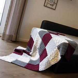 Decke Stricken Patchwork : patchwork decke stricken warme decke ~ Watch28wear.com Haus und Dekorationen