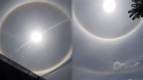 อาทิตย์หรือจันทร์มีเงาน้ำล้อมรอบเป็นวงกลม และมีแสงเลื่อมพรายงดงาม เรียกว่า พระอาทิตย์ ทรงกลด หรือ พระจันทร์ทรงกลด. พระอาทิตย์ทรงกลดสองชั้น วันดี ลางดี...ศรัทธาโลกสวย