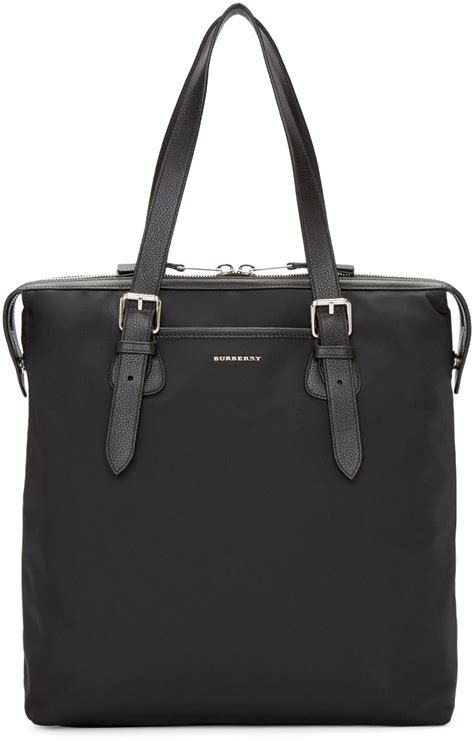 burberry synthetic black trenton tote bag  men lyst