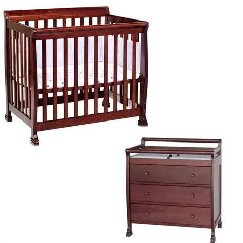 crib changing table set davinci kalani convertible mini wood crib set with