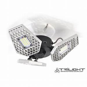Motion Sensor Light Bulb Lowes Stkr Trilight 4000 Lumen Motion Sensor Ceiling Light