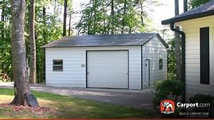 two car metal garage boxed eave roof 2039 x 2639 shop With 20x26 garage