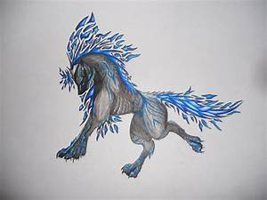 Ice wolf by Ameliila on DeviantArt