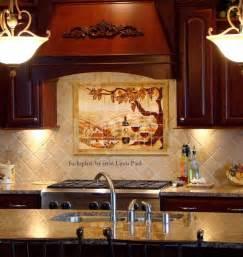 Kitchen Backsplash Murals Made The Vineyard Kitchen Backsplash Tile Mural By Paul Studio Custommade