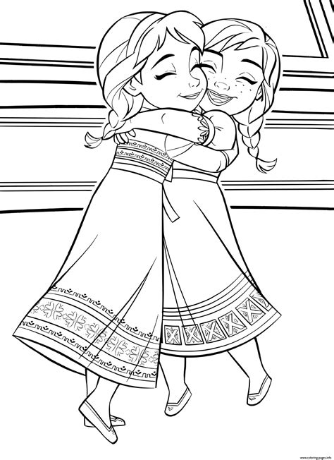 baby kids elsa anna frozen  coloring pages printable