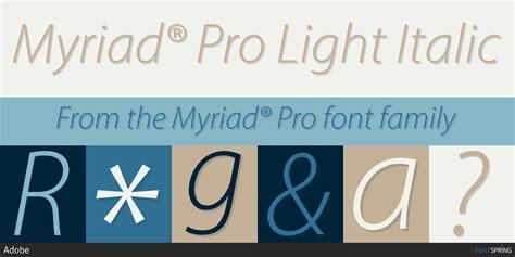 Myriad® Pro Fonts By Adobe