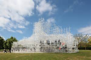 house plan layout interactive serpentine gallery pavilion by sou