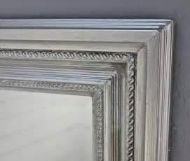 esszimmer barock spiegel silber landhaus 150x60cm holz wandspiegel barock badspiegel standspiegel ebay