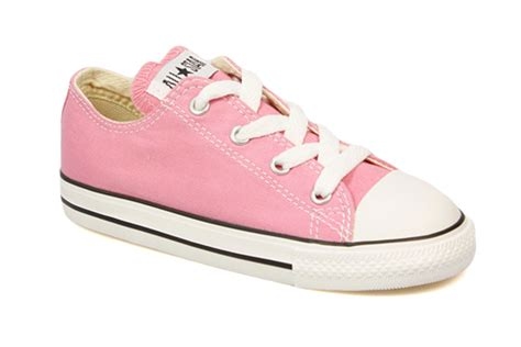 Converse Toddler Kids Pink White Canvas Trainers Sneakers