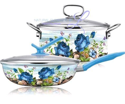 wok enamel pan natural elements cookware cooking 4pc stockpot palace porcelain pot
