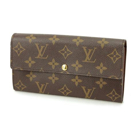auth louis vuitton monogram portefeuille wallet m61725 lv 70186806 ebay