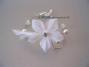 bracelet fantaisie mariage ivoire fleur etoilee With bijoux fantaisie pas cher mariage