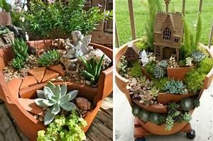 Pinterest Bricolage Jardin : d co jardin diy 35 id es pour int grer les pots en terre ~ Melissatoandfro.com Idées de Décoration