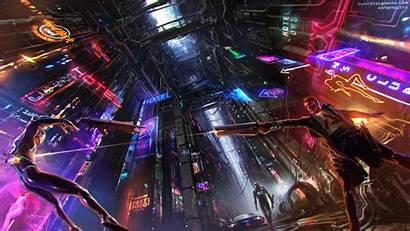 Cyberpunk Neon Futuristic Concept 4k Fiction Science