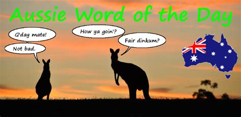 Aussie Word Of The Day @ Sionnagh.com