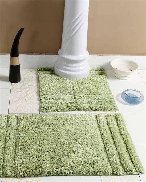 Spa Bathroom Rugs by Spa Supreme Luxury Green Bath Mat Set Homescapes