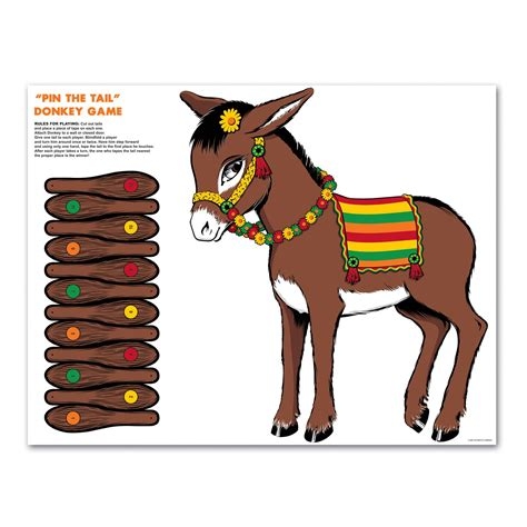 5 Best Images Of Printable Pin The Tail On The Donkey Game