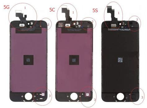 what is the difference between iphone 5c and 5s the difference between iphone 5 5c 5s screen lcd assembly